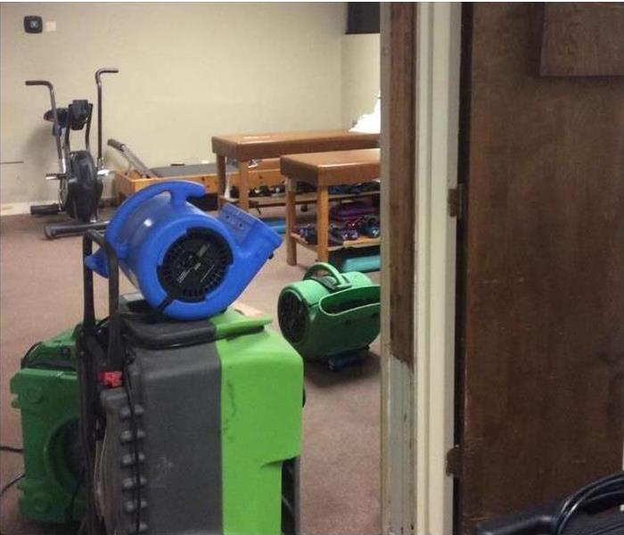 Physical Therapy room with air movers.